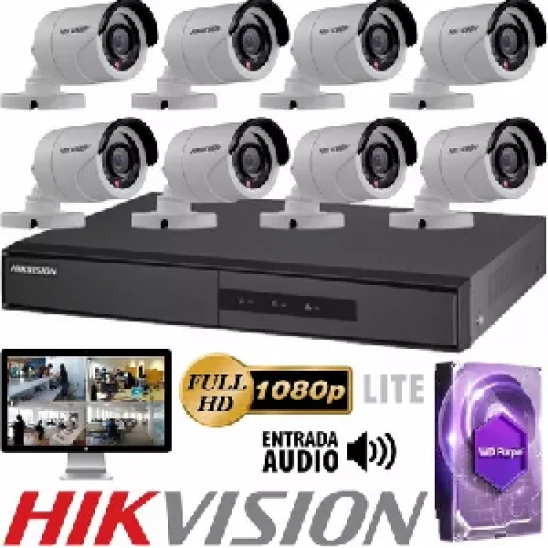 KIT DVR MAS 8 CAMARAS