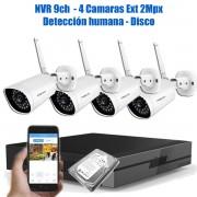 KIT 4 CAMARAS IP Y NVR  USD 600 + IVA BN